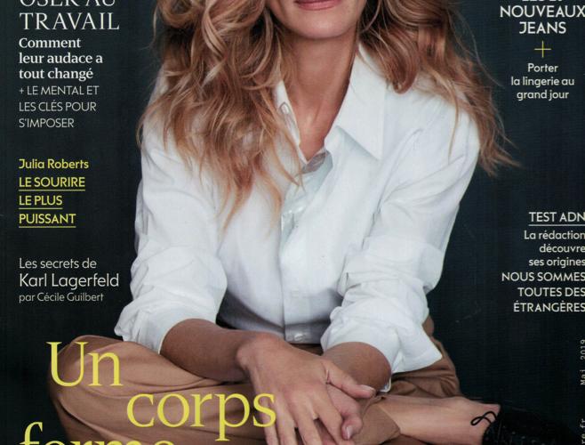 Publication sur le magazine Marie Claire – mai 2019